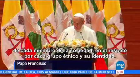 Papa Francisco Pide Respetar Minorías Myanmar