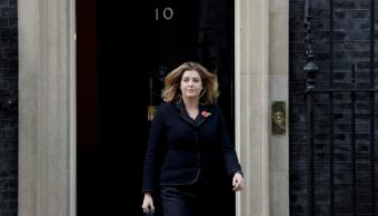 Penny Mordaunt, a su salida de Downing Street