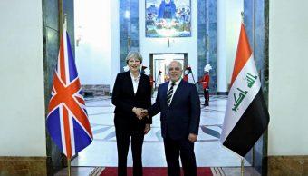 Theresa May realiza visita sorpresa a Irak