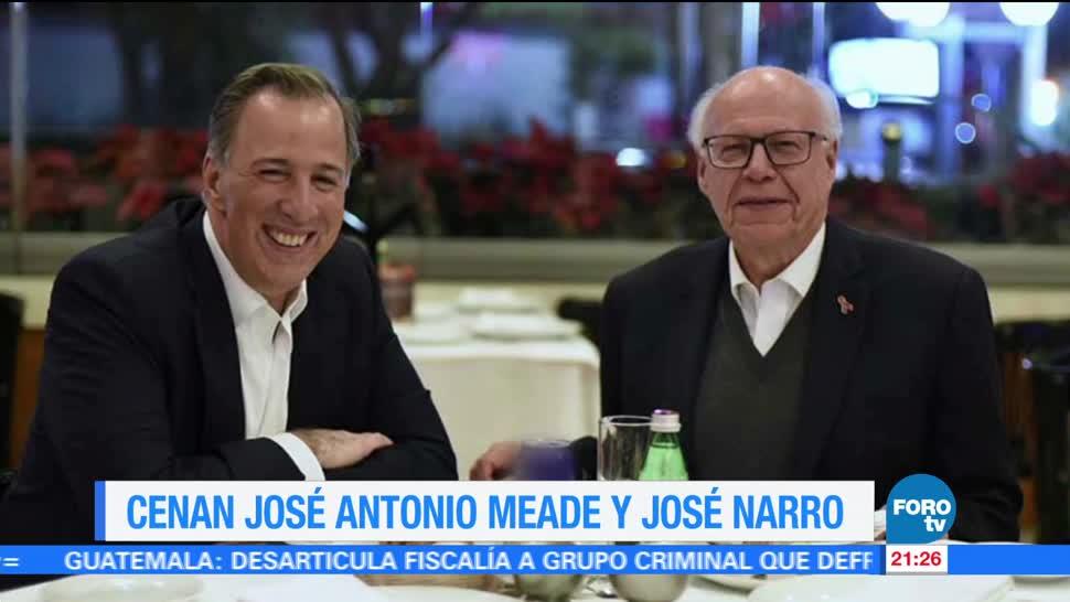 Cenan José Antonio Meade y José Narro