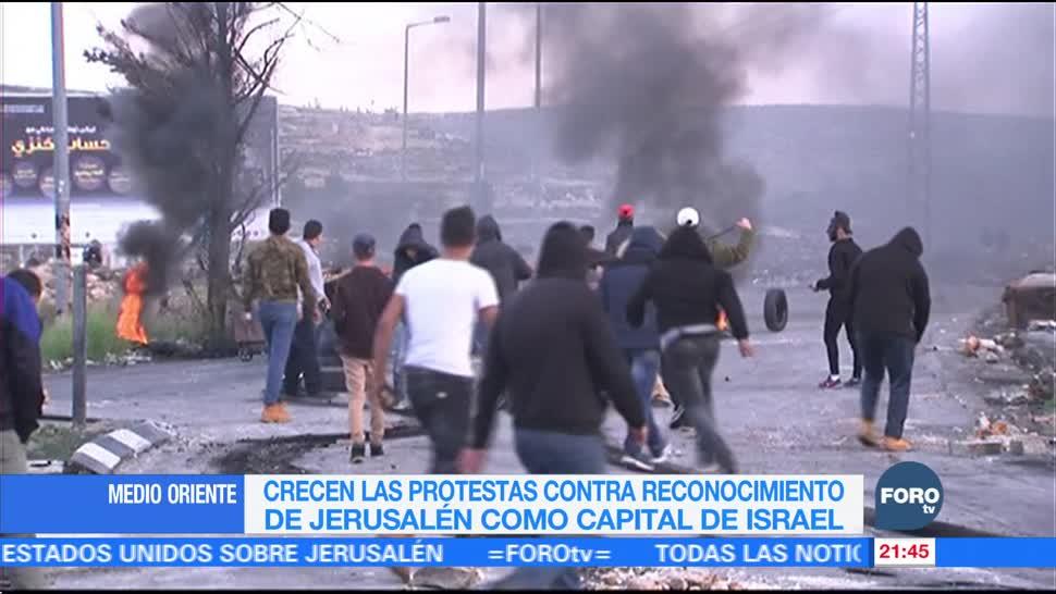 Crecen protestas contra reconocimiento de Jerusalén como capital de Israel