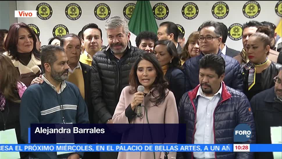 Alejandra Barrales se registra como precandidata a la jefatura de la Ciudad de México