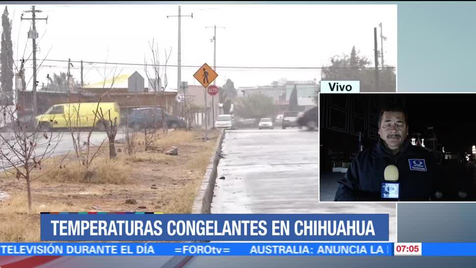 Frente frío 15 provocará temperaturas bajo cero en Chihuahua