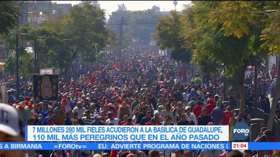 Siete millones 280 mil fieles acudieron a la Basílica de Guadalupe