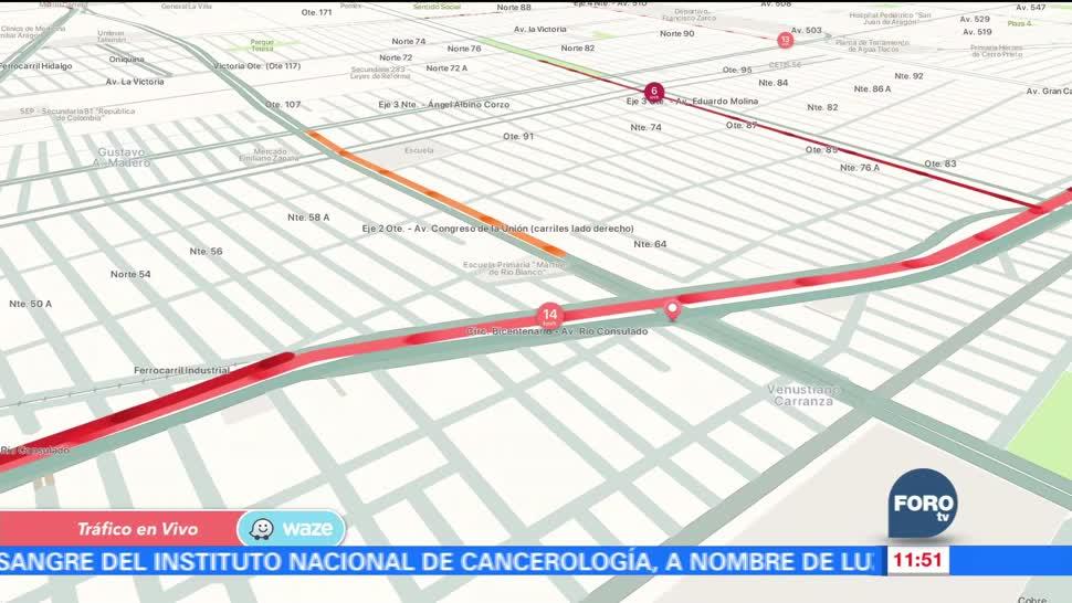 El reporte de WAZE sobre el tránsito vehicular en la CDMX