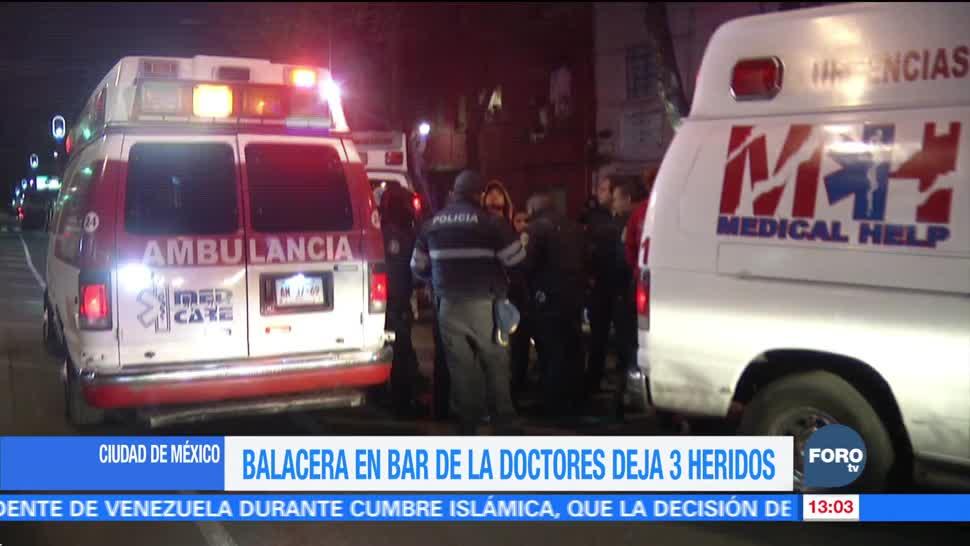Ataque armado en bar de la colonia Doctores deja tres heridos