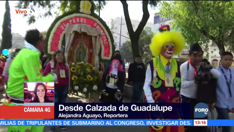 Payasos de México avanzan hacia la Basílica de Guadalupe