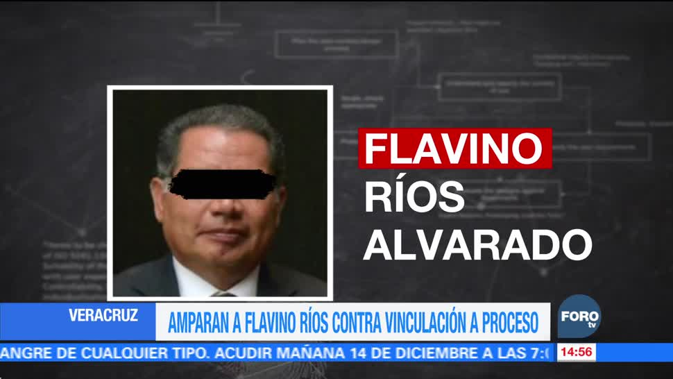 Amparan a Flavino Ríos contra vinculación a proceso