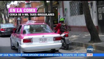 Taxis irregulares en la Ciudad de México