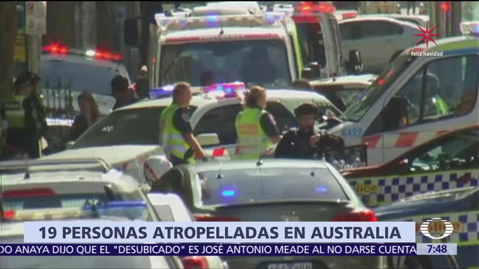 Atropellan deliberadamente a 19 personas en Melbourne, Australia