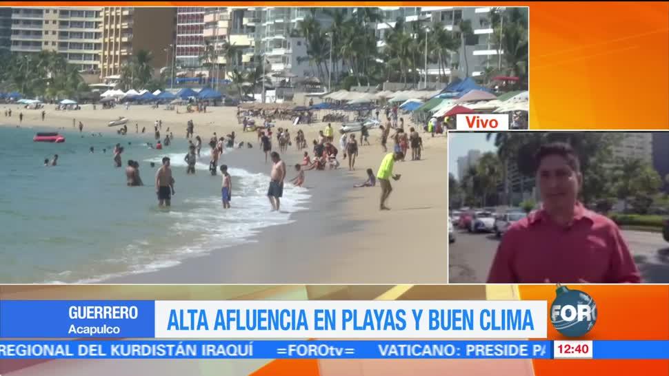 Acapulco recibe a vacacionistas por fiestas de diciembre