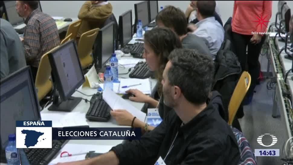 Primeras proyecciones no oficiales tras elección en Cataluña