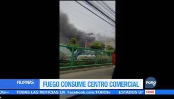 Incendio en centro comercial de Filipinas deja varios muertos
