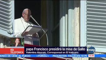 Papa Francisco celebrará por quinta vez la Misa de Gallo