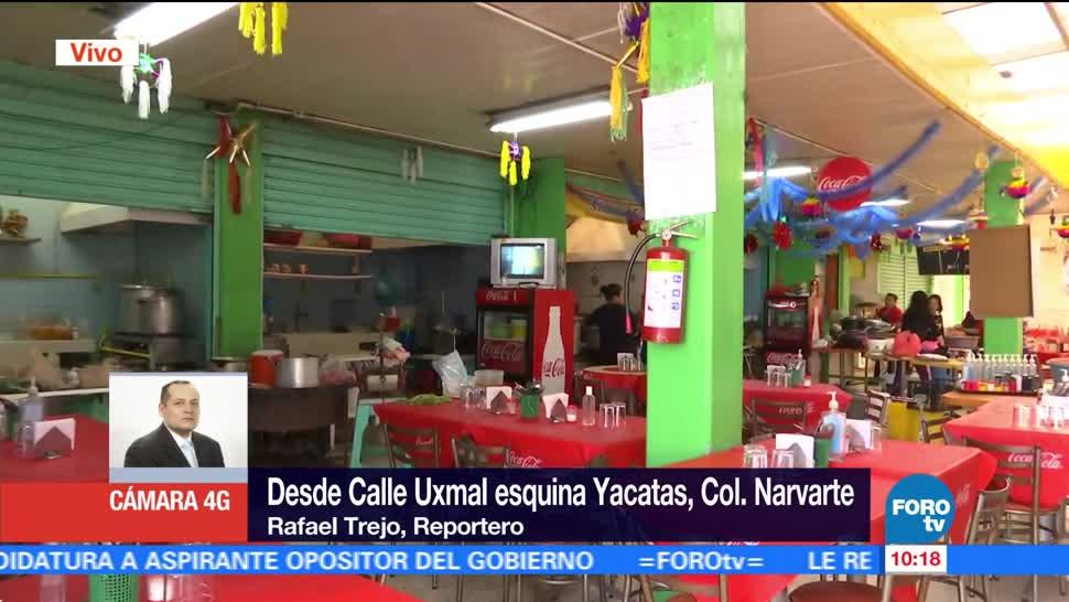 Dos lesionados tras explosión de una olla express en la Narvarte