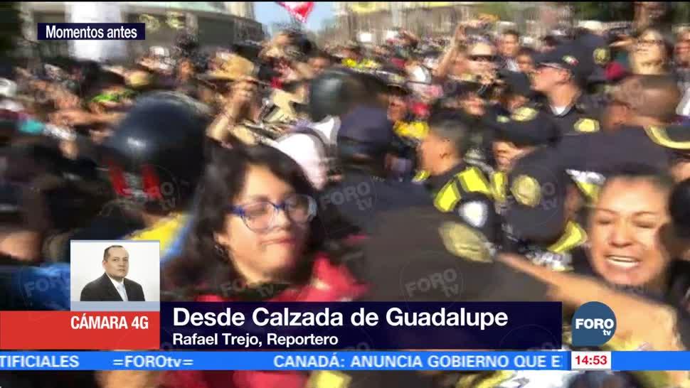 Se registra incidente entre normalistas y policías capitalinos