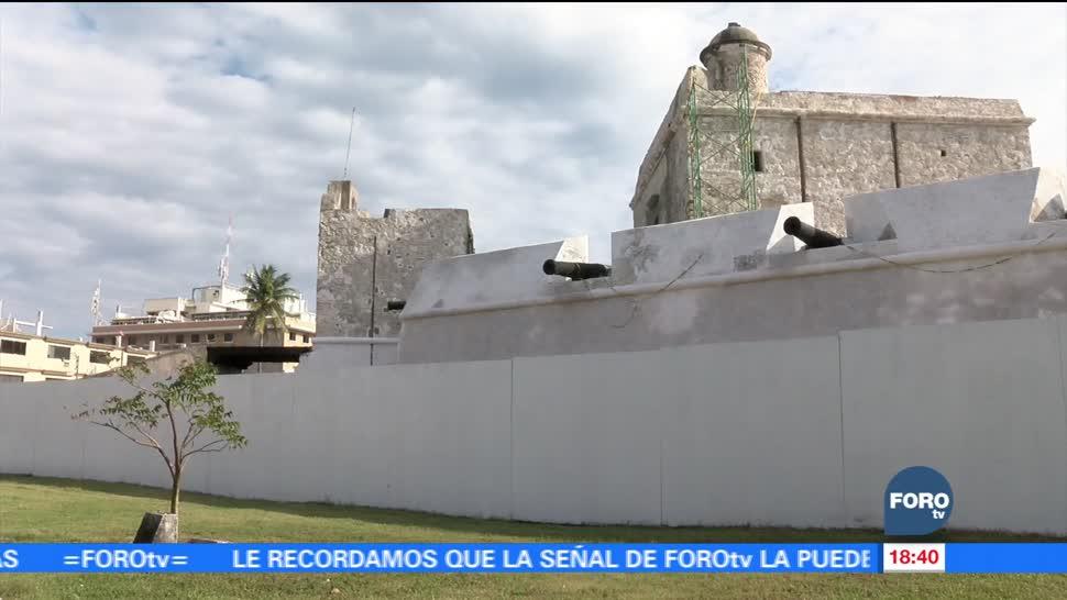 En mayo concluirá restauración del baluarte de Santiago en Veracruz