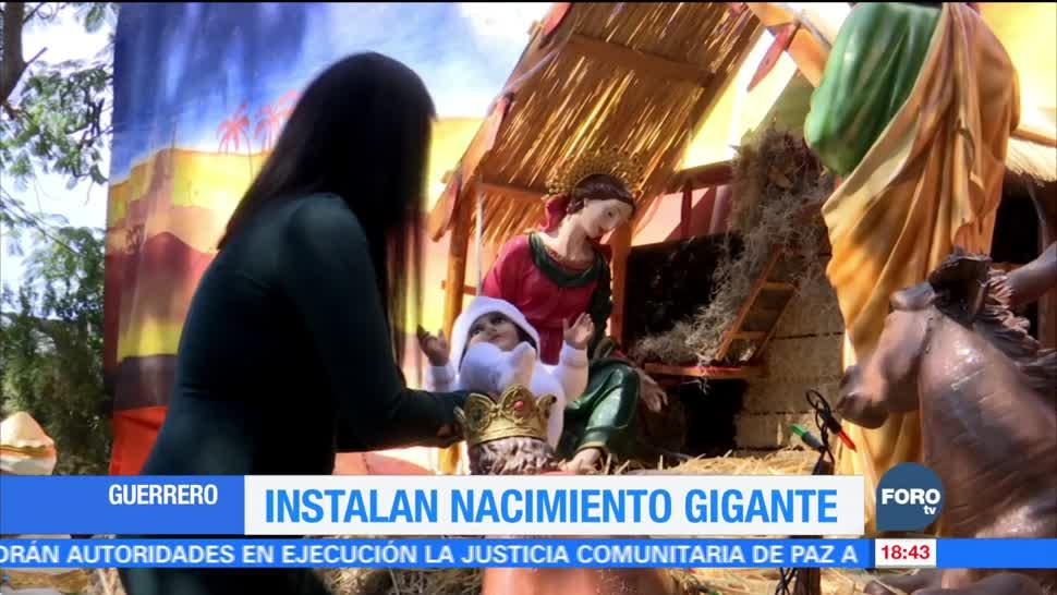 Nacimiento gigante en Chilpancingo Guerrero en Navidad