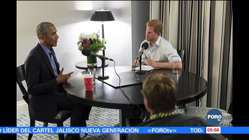 El príncipe Harry entrevista a Obama