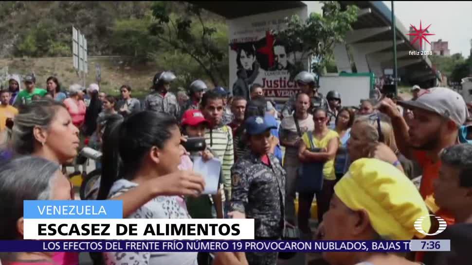 Se avivan protestas en Venezuela por escasez de alimentos y medicinas