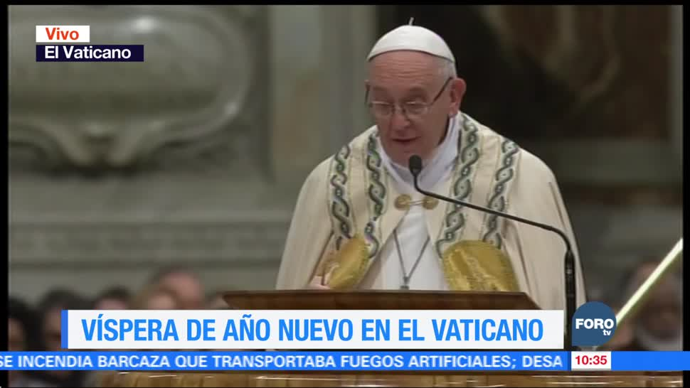 Papa Francisco encabeza ceremonia en víspera de Año Nuevo