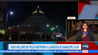 Baja Afluencia Feligreses Basílica Guadalupe