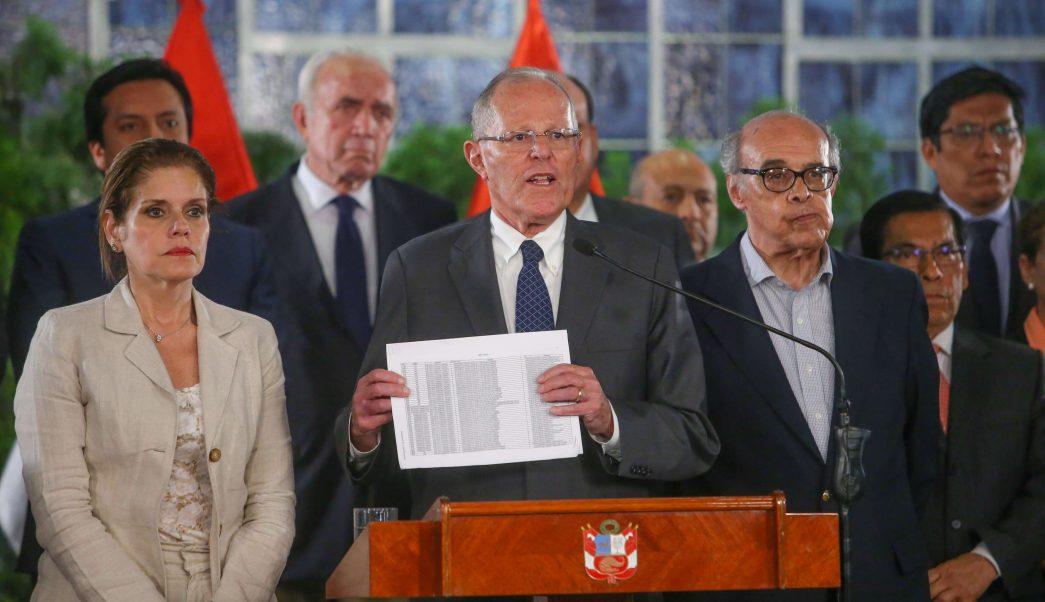 Perú aprueba debatir destitución presidente Kuczynski incapacidad moral