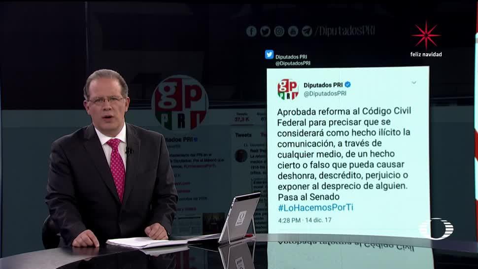 Diputados del PRI borran tuit de aprobación de reforma