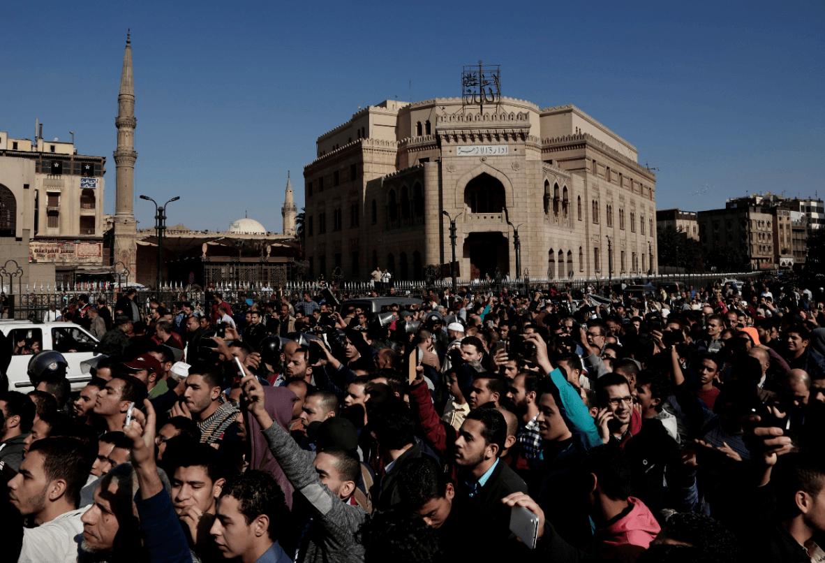 En Egipto también se realizaron protestas. (AP)