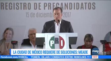 Cdmx Requiere Soluciones Meade José Antonio