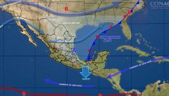 Frente frío 18 mantendrá bajas temperaturas en el norte, noreste, centro y oriente de México