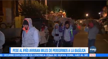 Pese Frío Arriban Miles Peregrinos Basílica