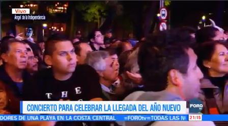 Sin Incidentes Realiza Concierto Fin Año Ángel Independencia