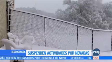 Suspenden Actividades Algunos Estados Estados Unidos Nevadas