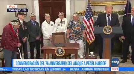 Trump Conmemora Ataque Pearl Harbor Presidente De EU Donald