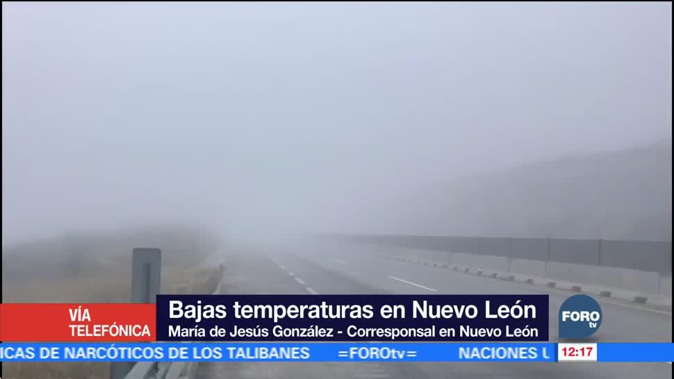 Frente frío número 20 genera bajas temperaturas en el país