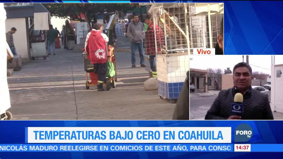 Inician año con temperaturas bajo cero en Coahuila