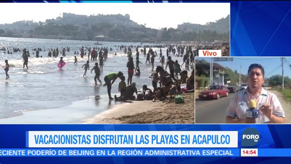 Acapulco termina 2017 con playas repletas