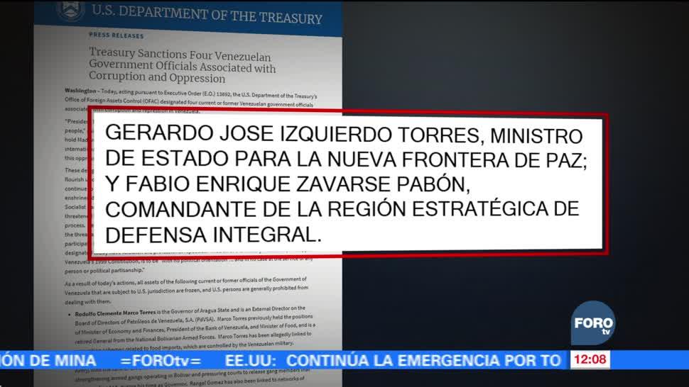 EU impone nuevas sanciones a cuatro generales venezolanos