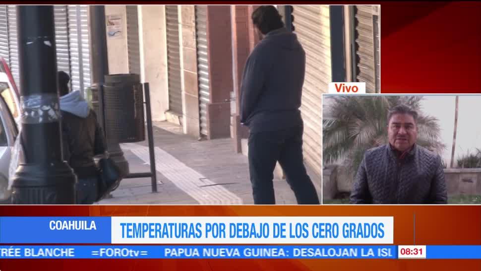 Se mantienen temperaturas bajo cero grados en comunidades de Coahuila