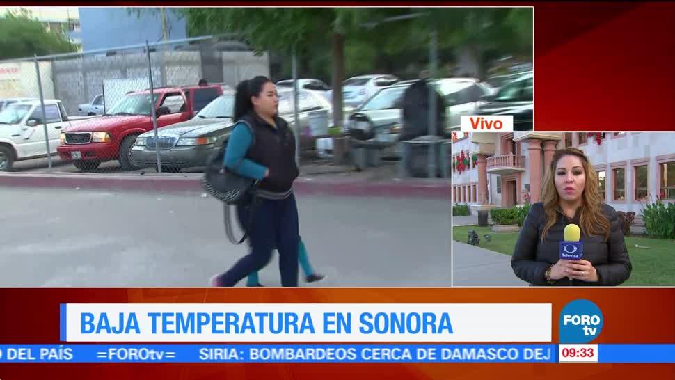Continúan las bajas temperaturas en Sonora
