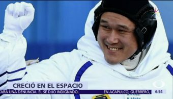 El astronauta Norishige Kanai revela que ha crecido 9 centímetros en la EEI