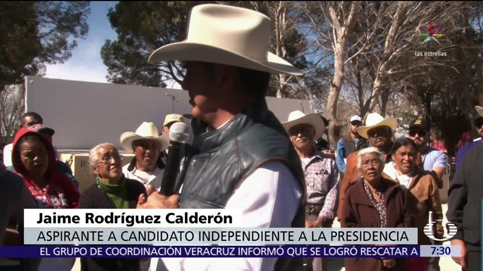 Jaime Rodríguez 'El Bronco' recorre Nuevo León y monta a caballo