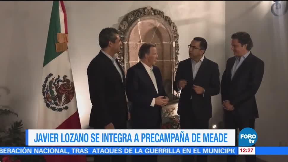 Javier Lozano se integra a la precampaña de José Antonio Meade