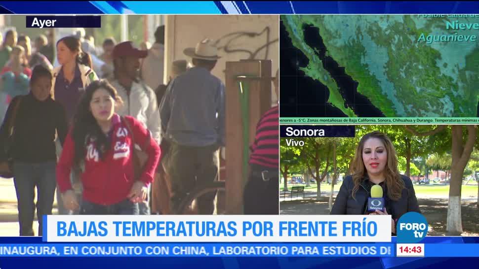 Frente frío provoca bajas temperaturas en Sonora