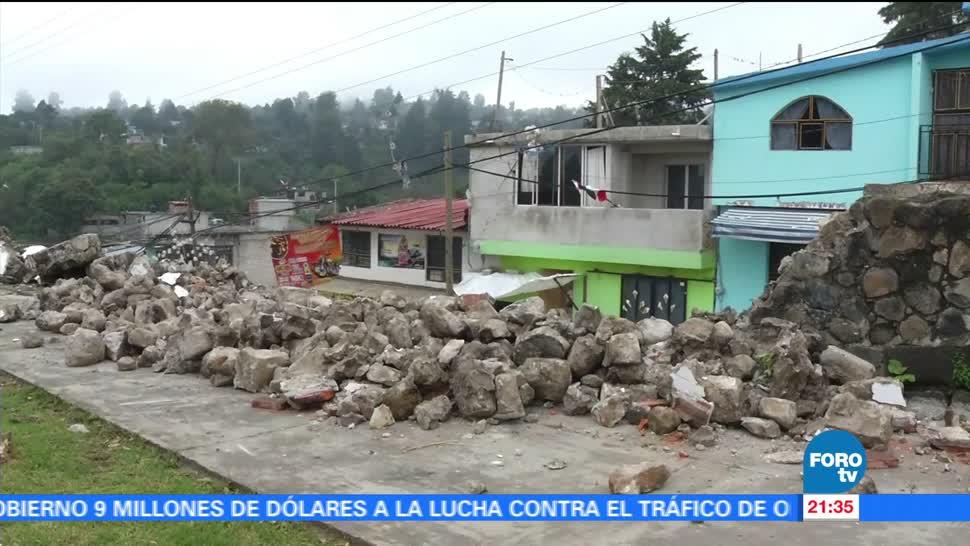 Lenta reconstrucción Ecatzingo, tras sismo de septiembre