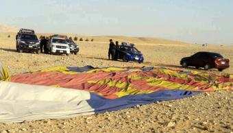 Accidente de globo en Egipto. (EFE)