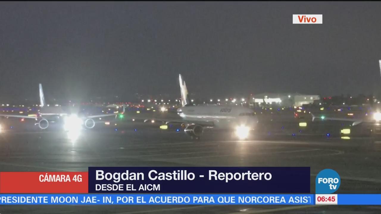 Aeropuerto capitalino opera con normalidad tras bajas temperaturas