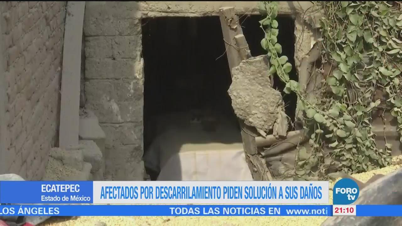 Afectados Descarrilamiento Ecatepec Piden Solución Sus Daños