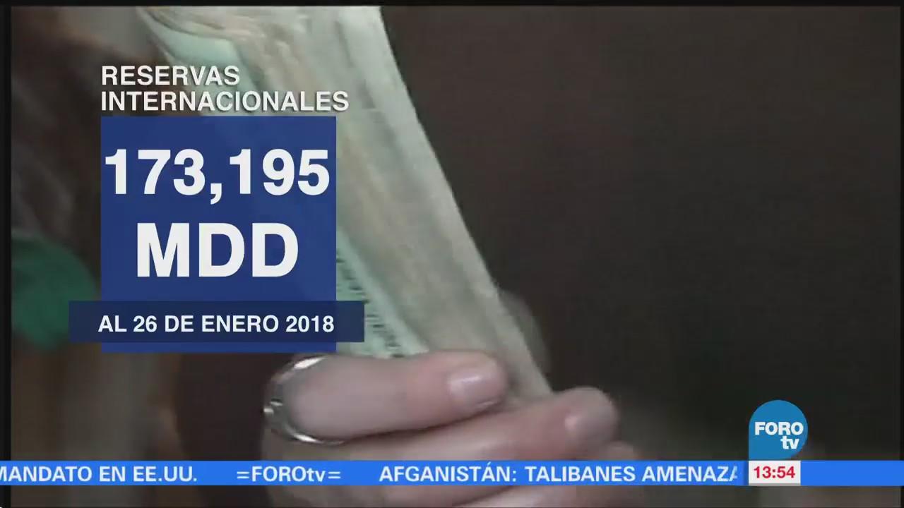 Aumentan reservas internacionales por quinta semana